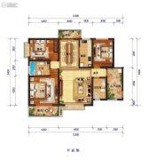 怡景尚居3室2厅2卫143平方米户型图