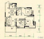 山水檀溪・山水家园3室2厅2卫106平方米户型图