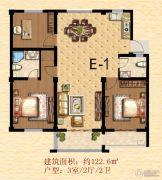 丹丘苑3室2厅2卫122平方米户型图