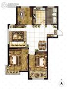 大成门3室2厅1卫119平方米户型图