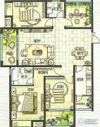 绿都万和城3室2厅2卫141平方米户型图