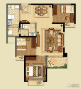 恒大山水城3室2厅1卫95平方米户型图