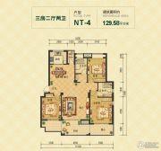 春天里3室2厅2卫130平方米户型图