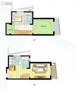 阳光100国际新城1室2厅2卫78平方米户型图