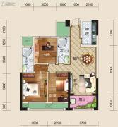 亿家龙景名都3室2厅2卫114平方米户型图