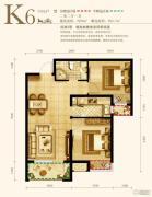 永定河孔雀城英国宫2室2厅1卫80平方米户型图