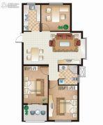 逸城山色3室2厅1卫91平方米户型图