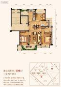三水润园一期3室2厅2卫100平方米户型图