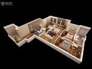 泰华・金汇时代3室2厅1卫0平方米户型图