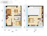 众美定制广场3室2厅2卫90平方米户型图
