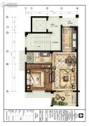 楠溪・云岚1室1厅1卫75平方米户型图