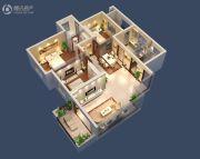 台北城上城3室2厅2卫119平方米户型图