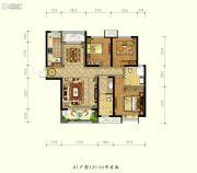 德杰状元府邸3室2厅2卫120平方米户型图