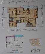 碧海新城5室2厅2卫128平方米户型图