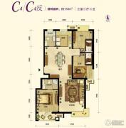 中国铁建・原香漫谷3室2厅2卫133平方米户型图