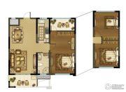 中建・锦绣珑湾 高层1室2厅1卫93平方米户型图