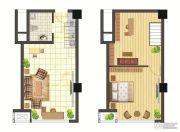 春天里・醋街1室2厅1卫0平方米户型图