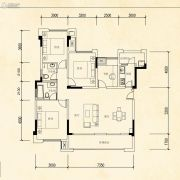 华美翡丽山4室2厅2卫105平方米户型图