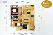 西溪・金港湾2室2厅1卫72平方米户型图