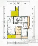 云顶澜山3室2厅2卫123平方米户型图