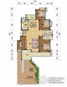 上上城・壹号院4室2厅2卫165平方米户型图
