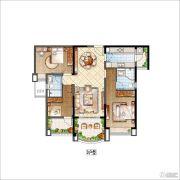 雅居乐・星河湾3室2厅2卫116平方米户型图