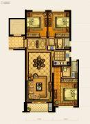华鸿中央华府3室2厅2卫108平方米户型图