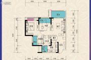 东原城3室2厅1卫82平方米户型图