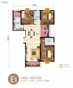 华信悦峰3室2厅2卫141平方米户型图