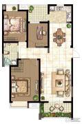 世茂香槟湖3室2厅1卫128平方米户型图
