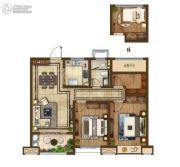 云樾东方3室2厅1卫95平方米户型图