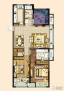 港龙新港城2室2厅1卫118平方米户型图