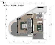 熙龙湾公馆1室1厅2卫145平方米户型图