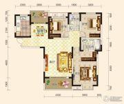 鸿坤国宾壹号3室2厅2卫134平方米户型图