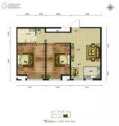 磊阳天府2室2厅1卫99平方米户型图