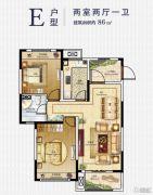 在水一方2室2厅1卫86平方米户型图