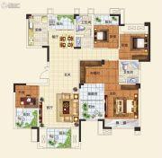 中建观湖国际4室2厅2卫143平方米户型图