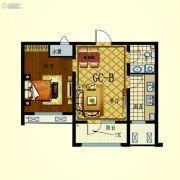 步阳江南甲第1室2厅1卫63平方米户型图