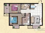 行宫・御东园2室1厅1卫92平方米户型图