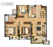 佳源都市2室2厅2卫0平方米户型图