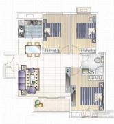 九龙城3室2厅1卫0平方米户型图