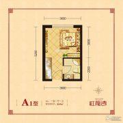 红龙湾1室1厅1卫40平方米户型图