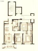 中梁首府壹号院3室2厅2卫96平方米户型图