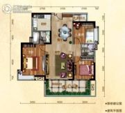 �h珑湾3室2厅2卫117平方米户型图
