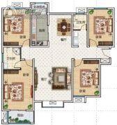 华瑞紫韵城4室2厅2卫168平方米户型图
