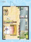 理想04511室2厅1卫0平方米户型图