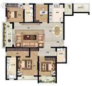 东润泰和4室2厅3卫160平方米户型图