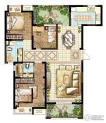 世茂香槟湖3室2厅2卫119平方米户型图