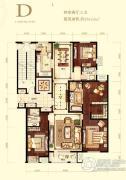 首开・璞�v公馆4室2厅3卫184平方米户型图