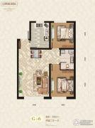 宝居朗庭国际2室2厅1卫82平方米户型图